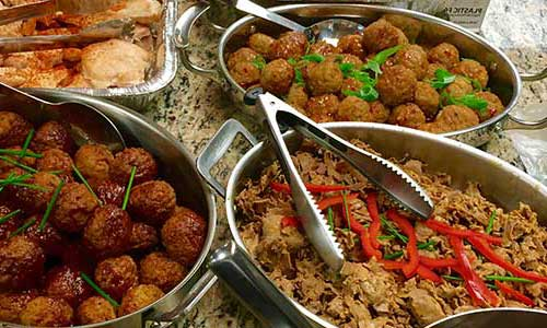 Photo of dishes prepared by our top Food Service Company brands.